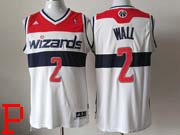 Mens Nba Washington Wizards #2 John Wall White (red Number) Jersey