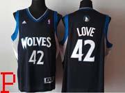 Mens Nba Minnesota Timberwolves #42 Love Black Revolution 30 Jersey (p)
