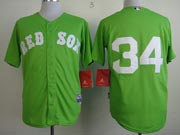 Mens mlb boston red sox #34 ortiz green (no name) Jersey