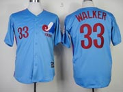 Mens mlb montreal expos #33 walker blue Jersey