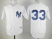 Mens mlb new york yankees #33 swisher white (no name) Jersey