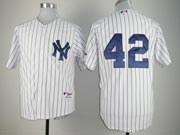 Mens Mlb New York Yankees #42 Rivera White No Name Cool Base Jersey