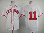 Mens mlb boston red sox #11 buchholz white (no name) Jersey