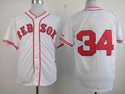Mens mlb boston red sox #34 ortiz white (no name) Jersey