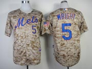 Mens mlb new york mets #5 wright camo (cool base) Jersey