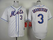 Mens mlb new york mets #3 granderson white Jersey