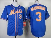 Mens mlb new york mets #3 granderson blue (orange number) Jersey