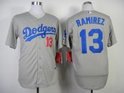 Mens mlb los angeles dodgers #13 ramirez gray (2014 new) Jersey