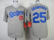 Mens mlb los angeles dodgers #25 crawford gray (2014 new) Jersey