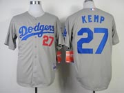 Mens Mlb Los Angeles Dodgers #27 Kemp Gray (2014 New) Jersey