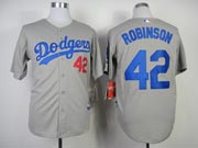 Mens Mlb Los Angeles Dodgers #42 Robinson Gray (2014 New) Throwbacks Jersey