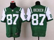 Mens Nfl New York Jets #87 Decker Green Elite Jersey