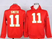 Mens Nfl Kansas City Chiefs #11 Smith Red Hoodie Jersey