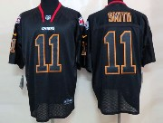 Mens Nfl Kansas City Chiefs #11 Smith Black (light Out) Elite Jersey