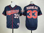 Mens mlb minnesota twins #33 morneau dark blue (minnesota) Jersey