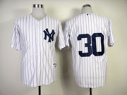 Mens mlb new york yankees #30 white (no name) Jersey