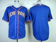 Mens mlb new york mets (blank) blue Jersey