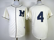 Mens Mlb Milwaukee Brewers #4 Molitor 1913 Cream Turn Back The Clock Jersey