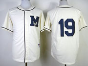 Mens Mlb Milwaukee Brewers #19 Yount 1913 Cream Turn Back The Clock Jersey