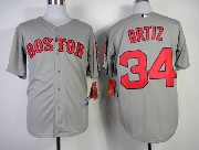 Mens Mlb Boston Red Sox #34 Ortiz Gray 2014 New Jersey