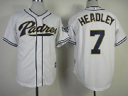 Mens mlb san diego padres #7 headley white Jersey