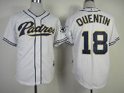 Mens mlb san diego padres #18 quentin white Jersey