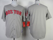 Mens Mlb Boston Red Sox (blank) Gray (2014 New) Jersey