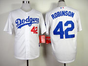 Mens mlb los angeles dodgers #42 robinson white 2014 new Jersey