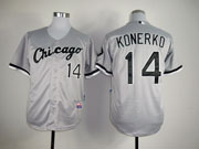 Mens Mlb Chicago White Sox #14 Konerko Gray Jersey
