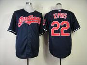 Mens Mlb Cleveland Indians #22 Kipnis Dark Blue Cool Base Jersey