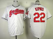 Mens Mlb Cleveland Indians #22 Kipnis White Cool Base Jersey