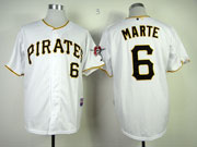 Mens mlb pittsburgh pirates #6 marte white Jersey