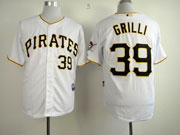 Mens mlb pittsburgh pirates #39 grilli white Jersey