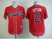 Mens Mlb Atlanta Braves #2 Upton Red Cool Base Jersey