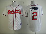 Mens Mlb Atlanta Braves #2 Upton White Cool Base Jersey