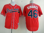 Mens Mlb Atlanta Braves #46 Kimbrel Red Cool Base Jersey