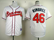 Mens Mlb Atlanta Braves #46 Kimbrel White Cool Base Jersey