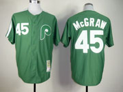 Mens mlb philadelphia phillies #45 mcgraw green throwbacks Jersey
