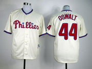 Mens mlb philadelphia phillies #44 oswalt cream Jersey