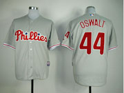 Mens Mlb Philadelphia Phillies #44 Oswalt Gray Jersey