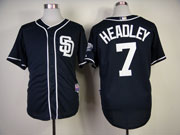 Mens mlb san diego padres #7 headley blue Jersey