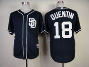 Mens mlb san diego padres #18 quentin blue Jersey