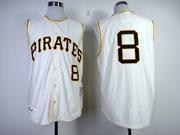 Mens Mlb Pittsburgh Pirates #8 Stargell 1960 Throwbacks White Jersey