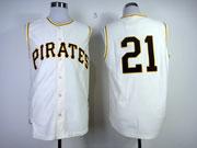 Mens Mlb Pittsburgh Pirates #21 Roberto Clemente 1960 Throwbacks White Jersey