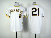 Mens Mlb Pittsburgh Pirates #21 Roberto Clemente White Pullover Jersey