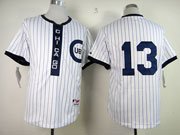 Mens Mlb Chicago Cubs #13 Castro 1909 Turn Back The Clock White Jersey(no Name)