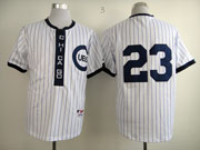 Mens Mlb Chicago Cubs #23 Sandberg 1909 Turn Back The Clock White Jersey(no Name)