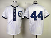 Mens Mlb Chicago Cubs #44 Rizzo 1909 Turn Back The Clock White Jersey(no Name)