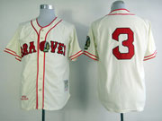Mens mlb atlanta braves #3 murphy cream throwbacks Jersey