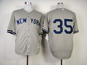 Mens Mlb New York Yankees #35 Betances Gray Jersey(no Name)